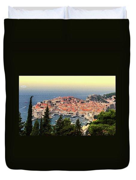 Dubrovnik Old City On The Adriatic Sea, South Dalmatia Region, C Duvet Cover