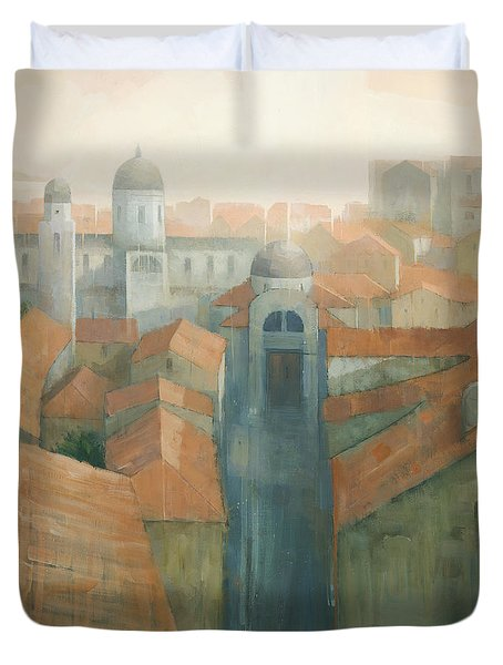Dubrovnik Rooftops Duvet Cover by Steve Mitchell