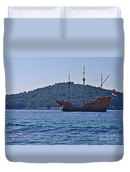 Duvet Cover featuring the photograph Dubrovniks Game Of Thrones  by Lance Sheridan-Peel