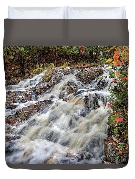 Duchesnay Falls Duvet Cover by Brian Boudreau