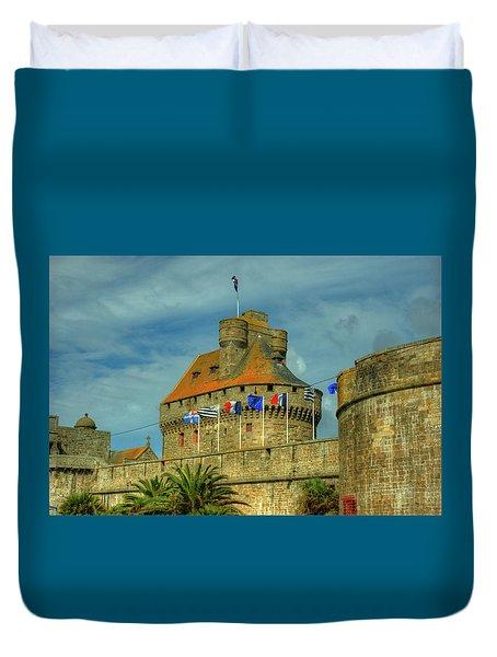 Duvet Cover featuring the photograph Duchesse Anne's Castle by Elf Evans