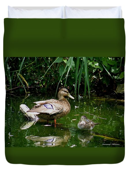 Duck And Duckling Duvet Cover