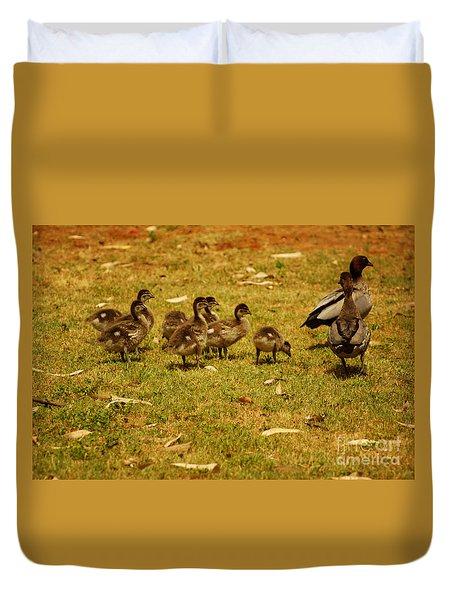 Duck Family I Duvet Cover