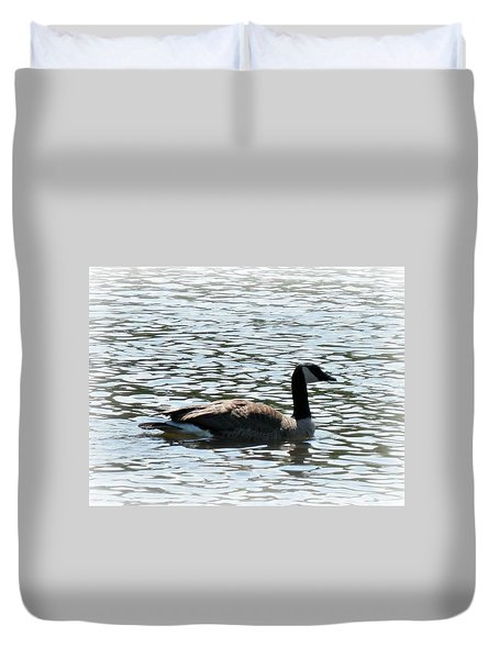Duck In The Water Duvet Cover
