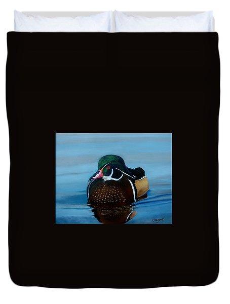 Duck Duvet Cover by Jean Yves Crispo