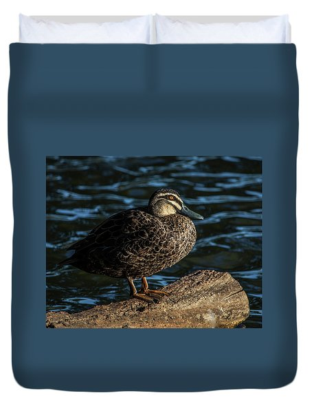 Duck On A Log Duvet Cover