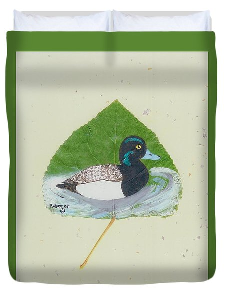 Duck On Pond #2 Duvet Cover by Ralph Root