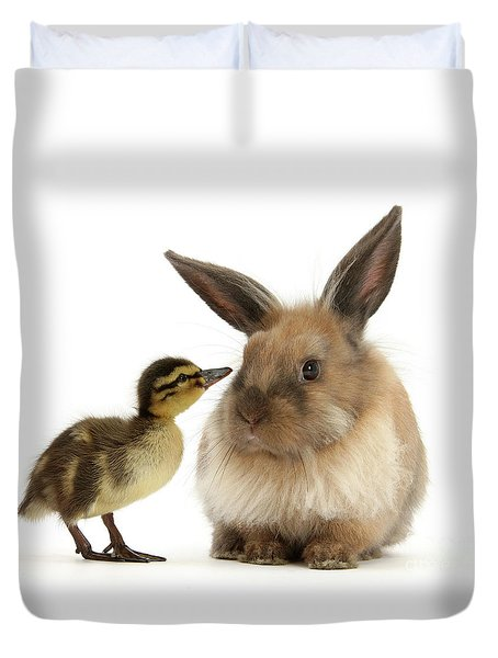 Duck Out Bunny Duvet Cover