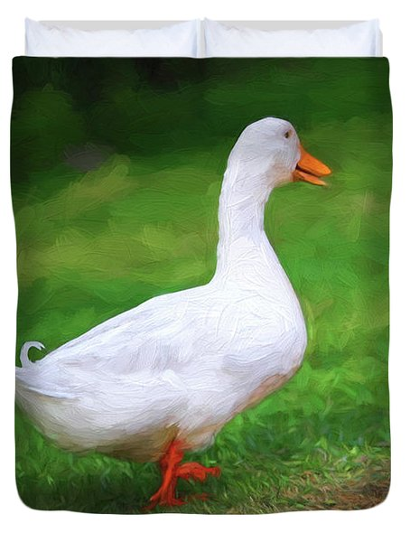 Duck To The Rescue Duvet Cover