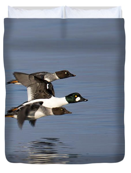 Duckin Out Duvet Cover by Randy Hall