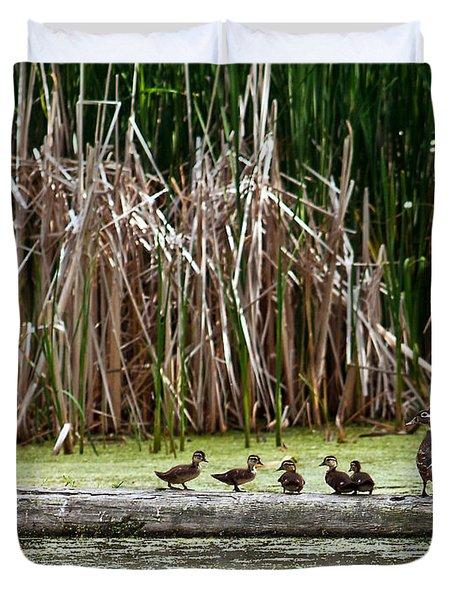 Ducks All In A Row Duvet Cover