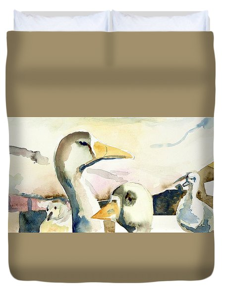 Ducks And Geese Duvet Cover