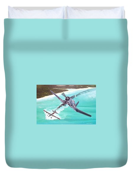 Duel Over New Georgia Duvet Cover by Marc Stewart