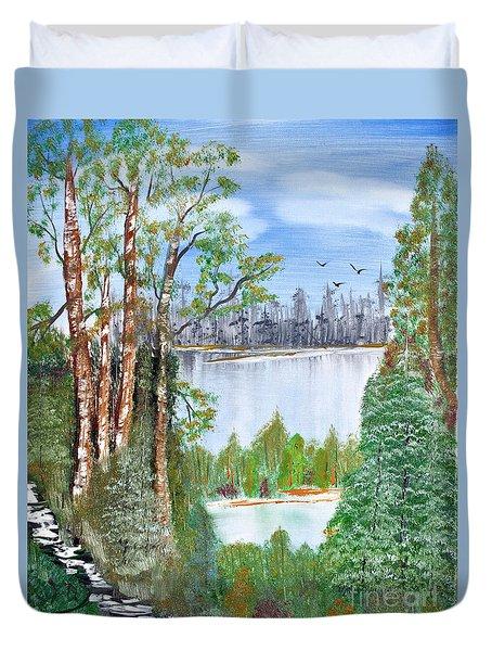 Dueling Lakes Duvet Cover