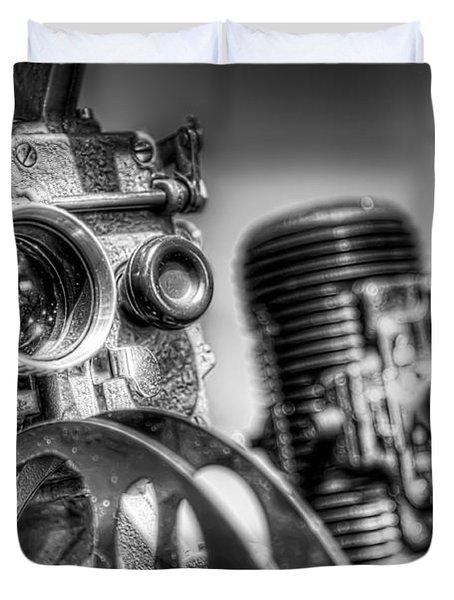 Dueling Projectors Duvet Cover by Scott Norris