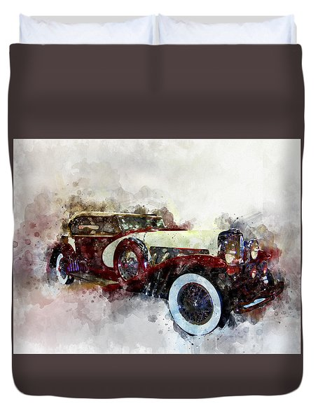 Duesenberg Watercolor Duvet Cover