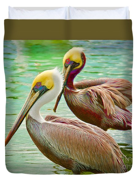 Duets Duvet Cover by Judy Kay