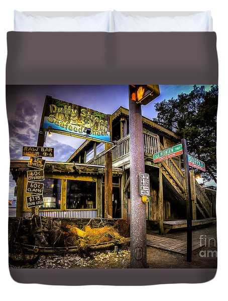Duffy Street Seafood Shack Duvet Cover