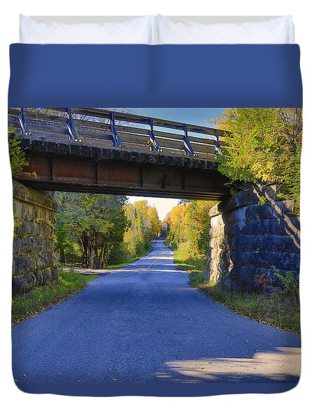 Duvet Cover featuring the photograph Duffy's Lane by Gary Hall
