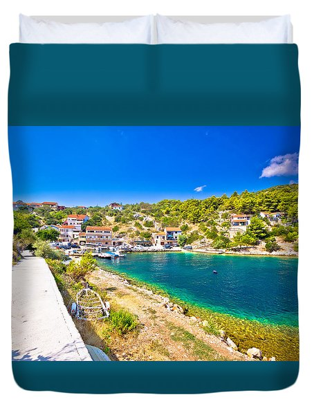 Dugi Otok Island Pictoresque Village Duvet Cover by Brch Photography