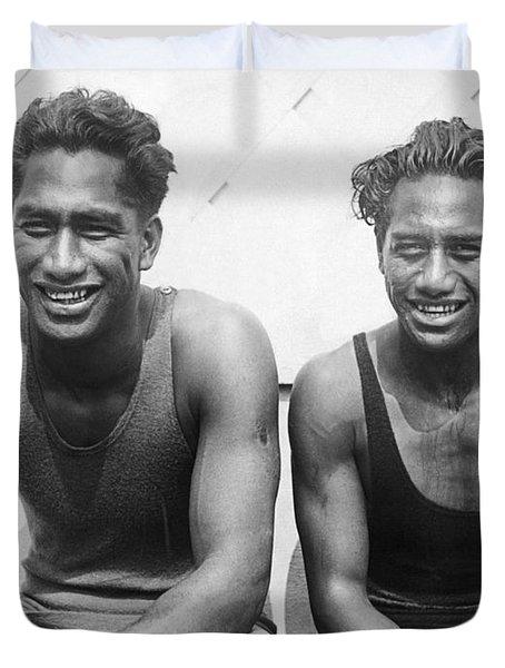 Duke And Sam Kahanamoku Duvet Cover