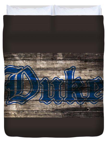 Duke Blue Devils 5d Duvet Cover by Brian Reaves