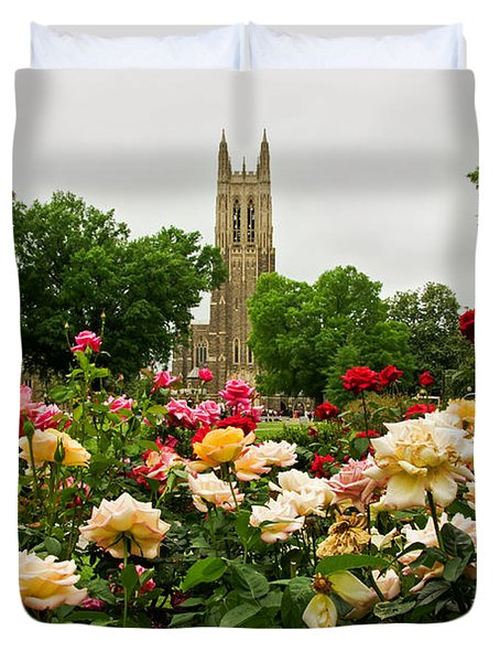 Duke Chapel And Roses Duvet Cover