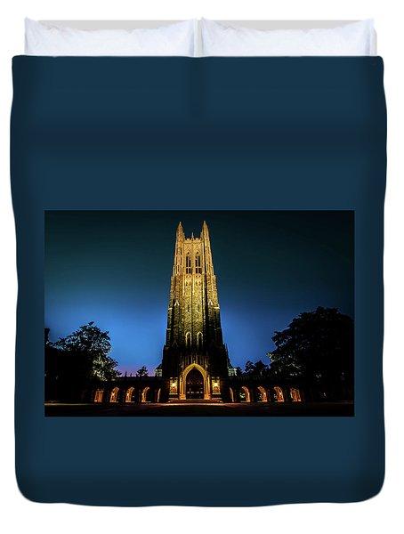 Duke Chapel Lit Up Duvet Cover