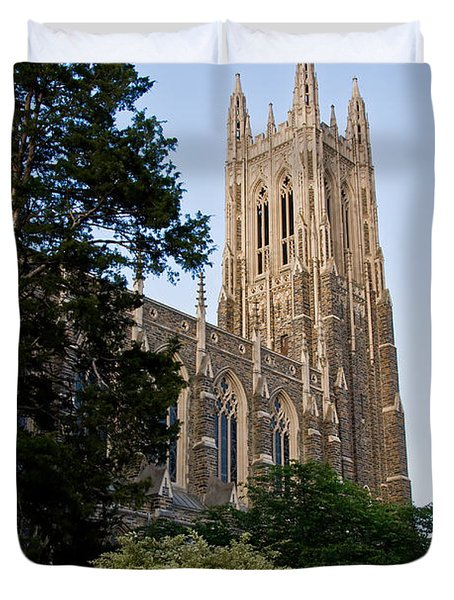 Duke Chapel Side View Duvet Cover