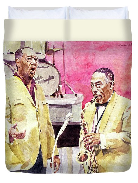Duke Ellington And Johnny Hodges Duvet Cover