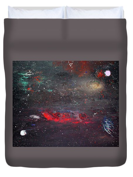 Duvet Cover featuring the painting Dulaity by Michael Lucarelli