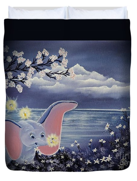 Dumbo Duvet Cover by Dianna Lewis