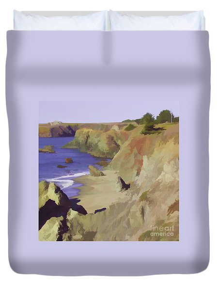 Above Bodega Duvet Cover