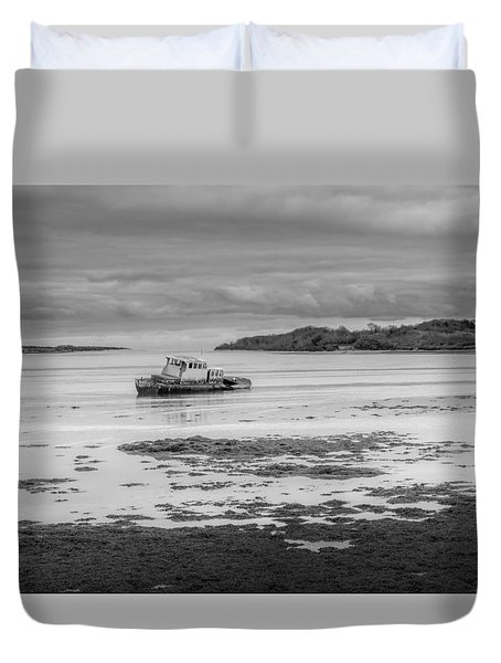 Dundrum The Old Boat Wreck Duvet Cover