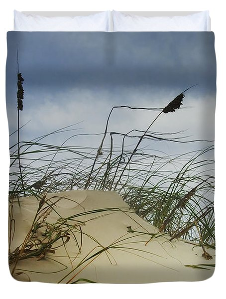 Dune And Beach Grass Duvet Cover by Randall Nyhof
