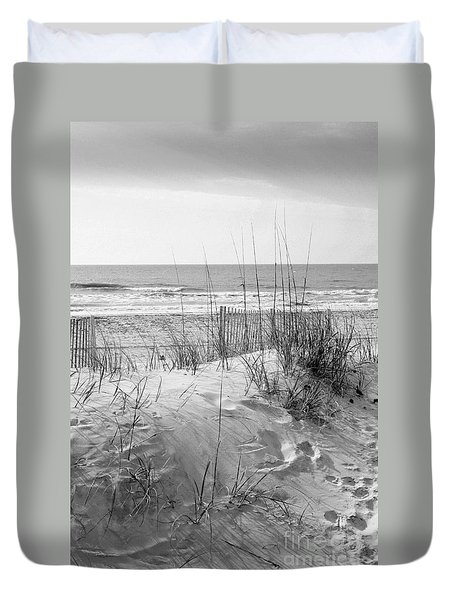 Dune - Black And White Duvet Cover
