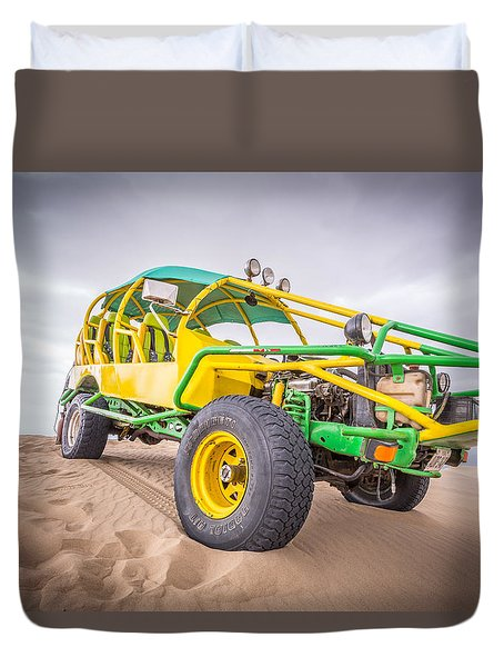 Duvet Cover featuring the photograph Dune Buggy by Gary Gillette