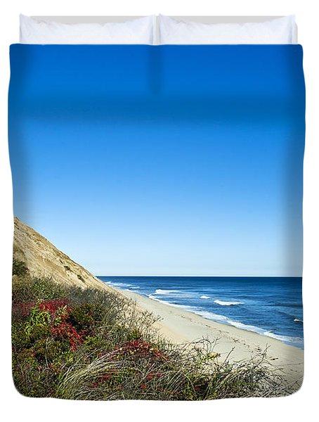 Dune Cliffs And Beach Duvet Cover by John Greim