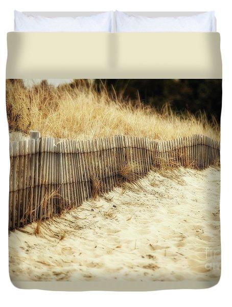 Dune Fence Duvet Cover