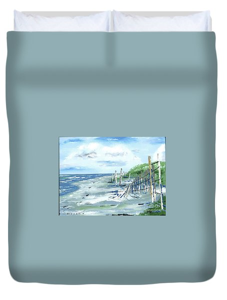 Dune Fences Isle Of Palms Duvet Cover
