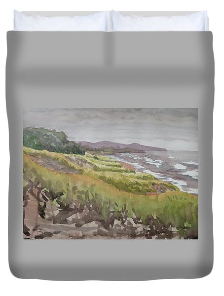Dune Grass Field Duvet Cover by Bethany Lee