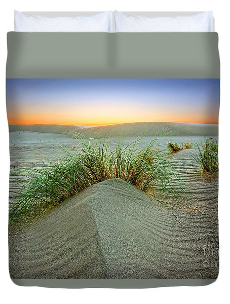 Dune Grass Of Bruneau Idaho Duvet Cover by Martin Konopacki