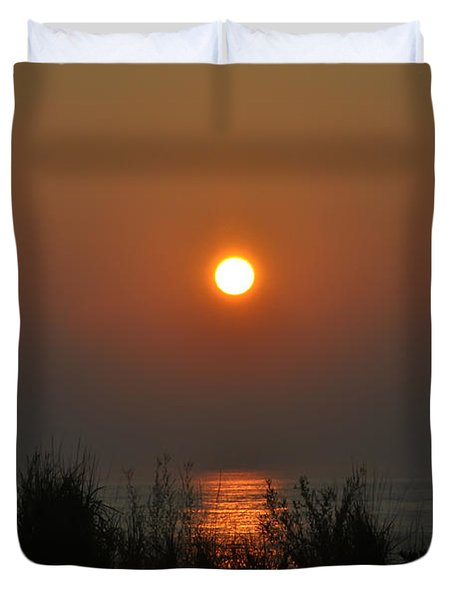 Dune Grass Sunrise Duvet Cover by Bill Cannon