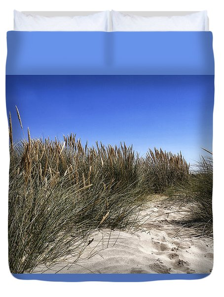 Duvet Cover featuring the photograph Dune Grasses by Shirley Mitchell