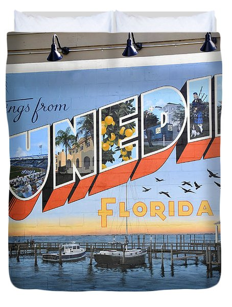 Dunedin Florida Post Card Duvet Cover