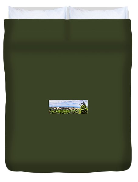 Dunes Along Lake Michigan Duvet Cover