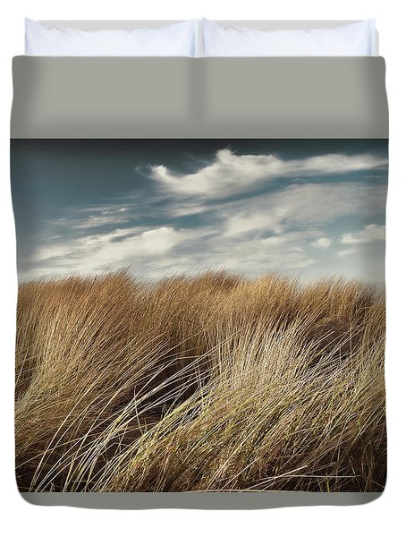 Dunes And Clouds Duvet Cover