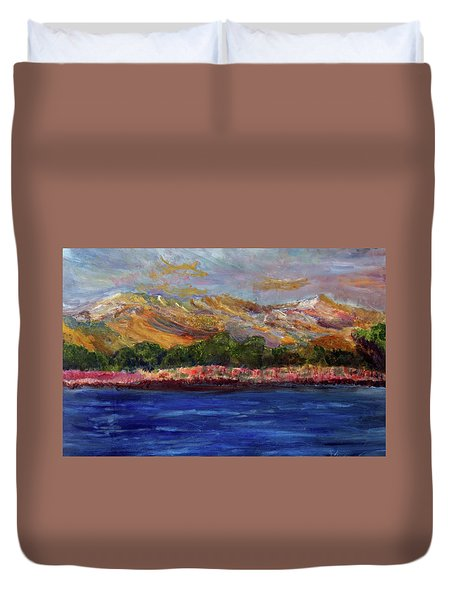 Dunes At Pilgrim Lake Duvet Cover