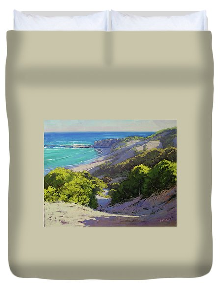 Dunes At Slodiers Beach Duvet Cover