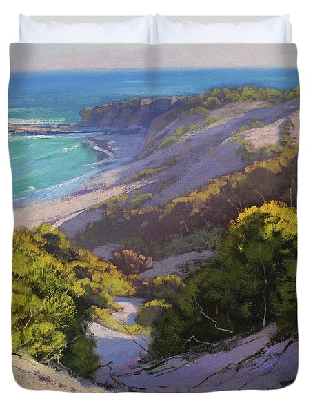 Dunes At Soldiers Beach Duvet Cover